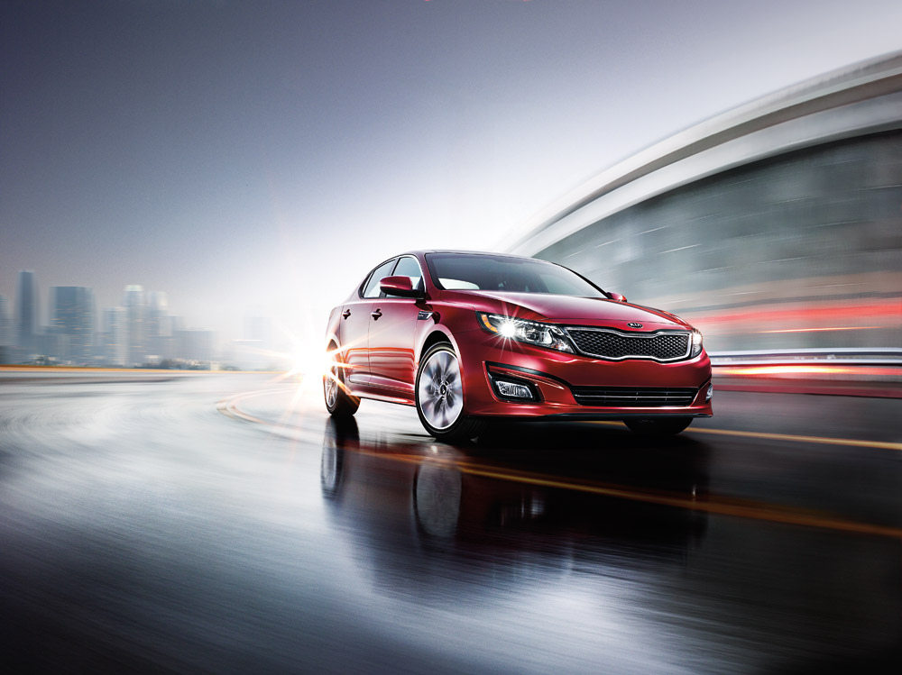 The Kia Optima, pictured here, and the Soul had record breaking sales months in March.
