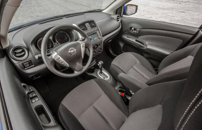 2015 Nissan Versa sedan interior