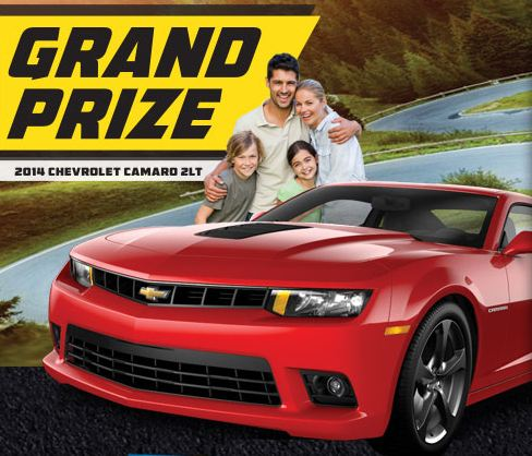 A 2014 Camaro 2LT is up for grabs in the Land O'Frost 2014 Drive It Home Sweepstakes.