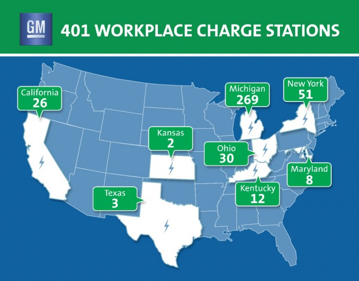 GM's EV Charge Stations Surpass 400