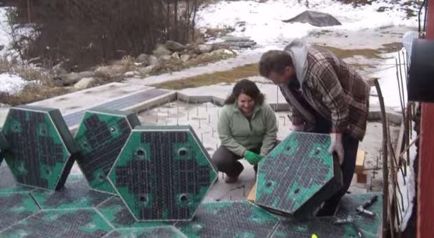 Installing the solar freakin' roadways.
