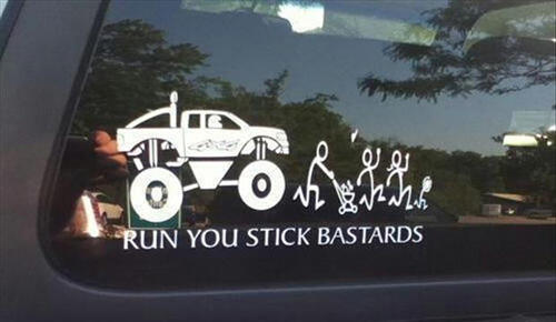 Stick Figure Monster Truck