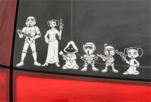 Star Wars Stick Figure Decal