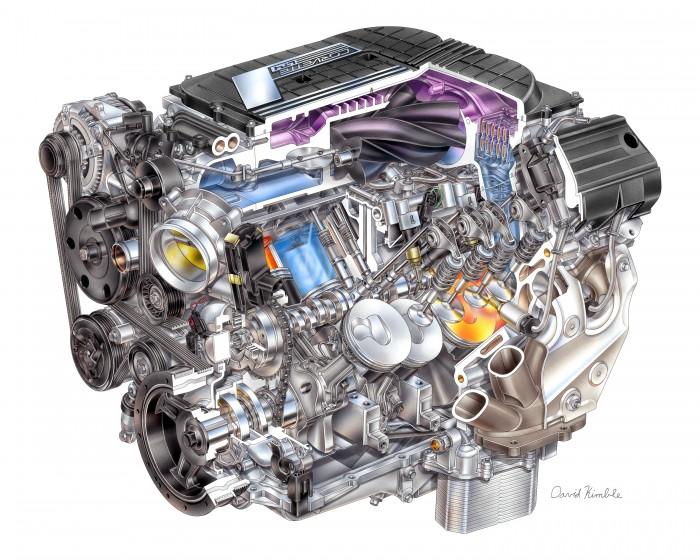 2015 Corvette Z06 engine: a LT4 supercharged 6.2-liter V8.