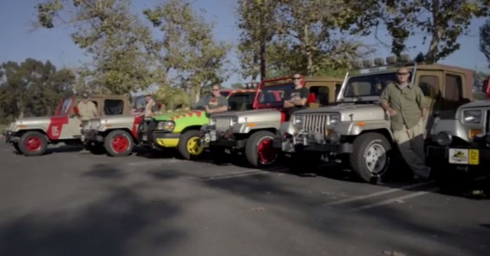 Feast your eyes on the Jurassic Park Jeeps.