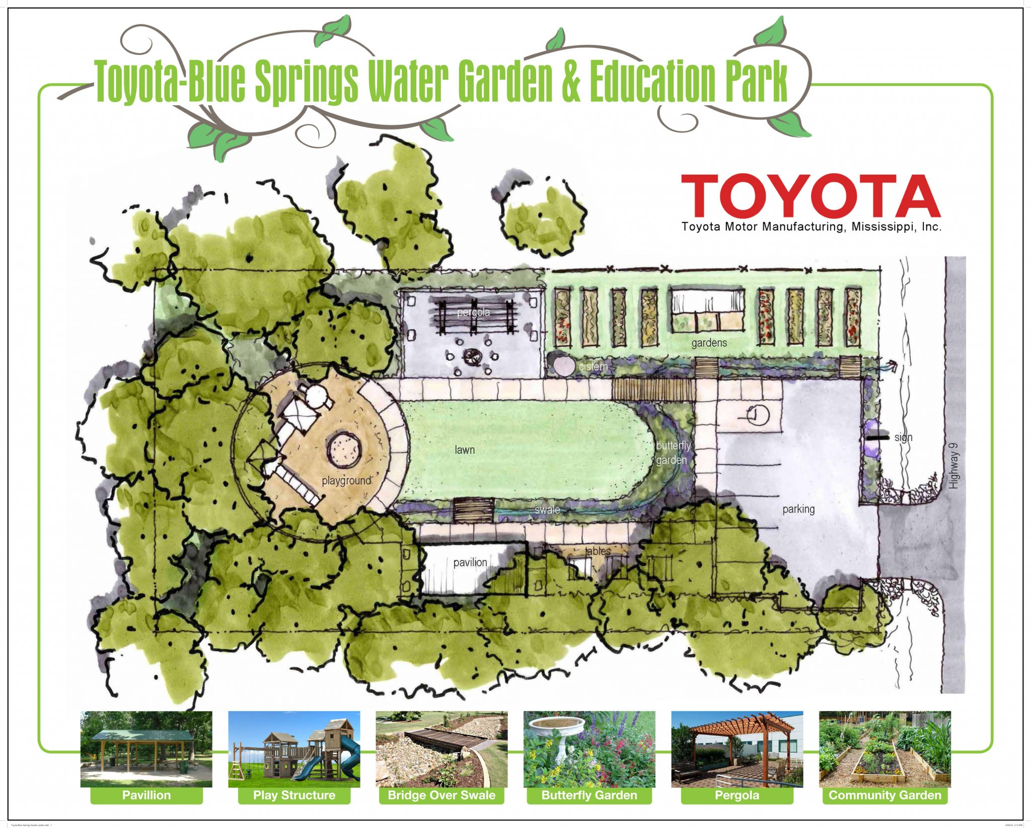 Toyota-Blue Springs Water Garden and Education Park