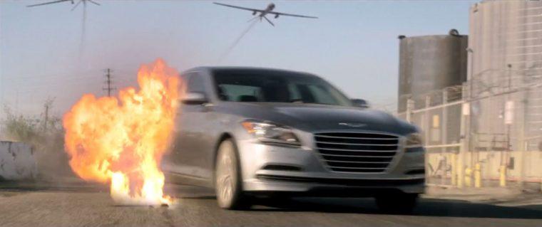 2015 Hyundai Genesis Short Film Explosion Exterior Grey