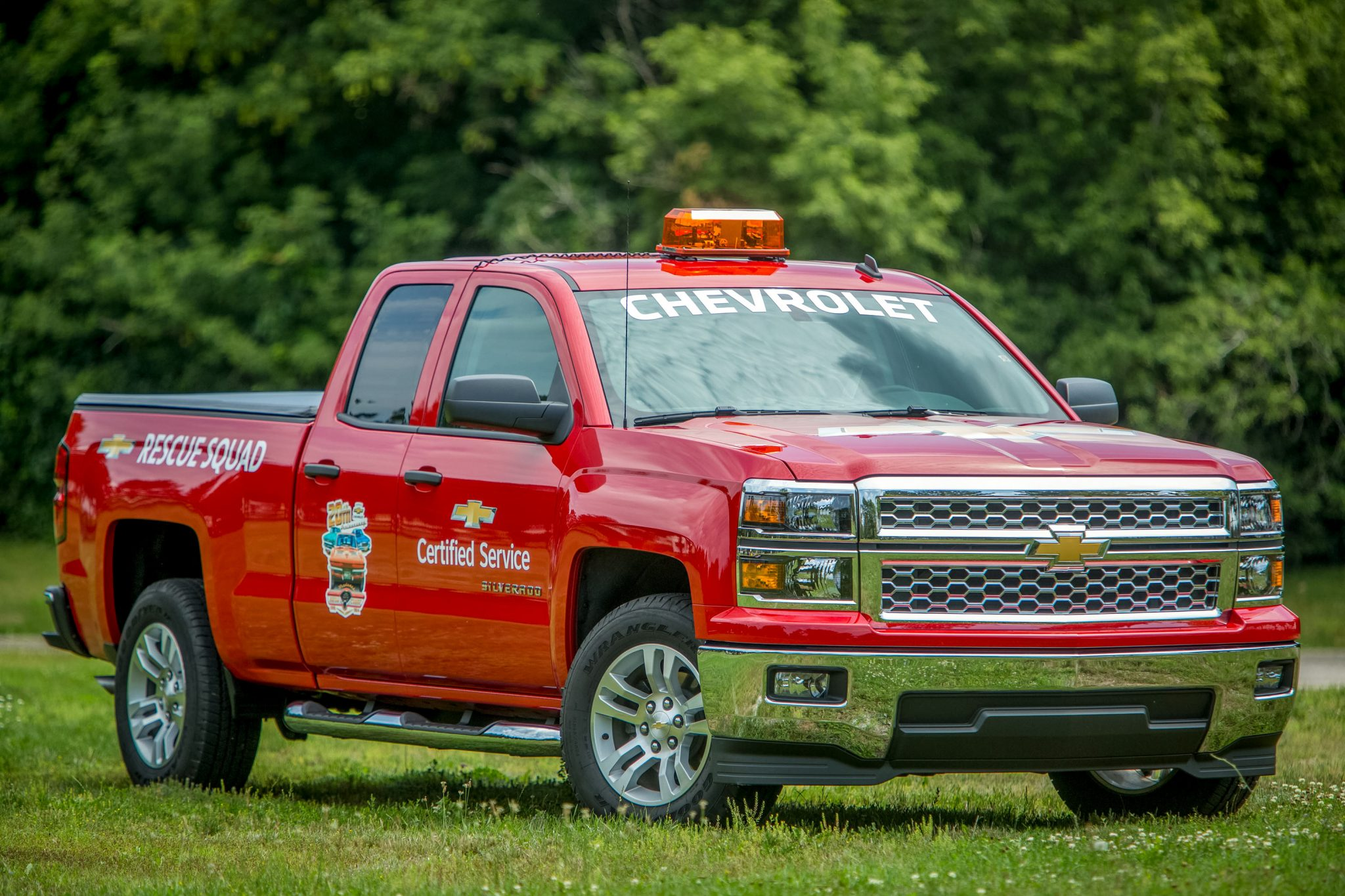 The Chevrolet Certified Service Rescue Squad will have six Silverados at Woodward.