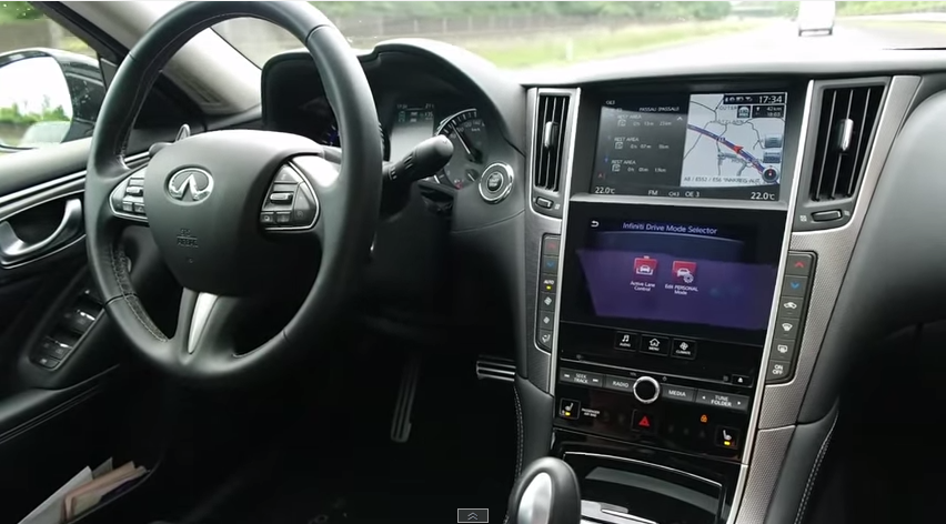 Idiot in Q50 Risks Lives for Self-Driving Stunt