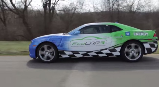 The EcoCAR 3 is a Hybrid Chevy Camaro.