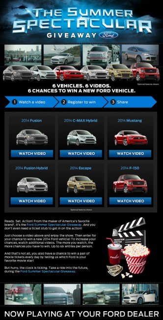 Watch Videos, Enter The Ford Summer Spectacular Giveaway