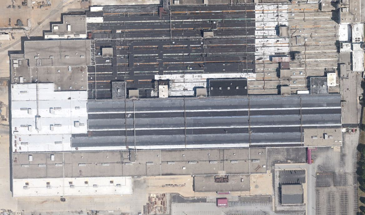 An aerial view of GM's Indianapolis Stamping Plant