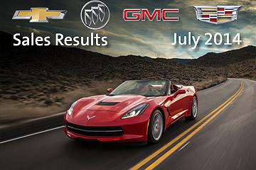 GM's July Sales, 2014