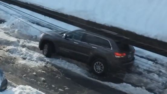 Jeep Driver Loses Traction, Mind