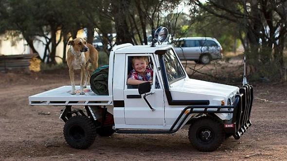 scaled-down Toyota Land Cruiser