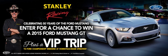STANLEY BLACK & DECKER Ford Mustang Sweepstakes