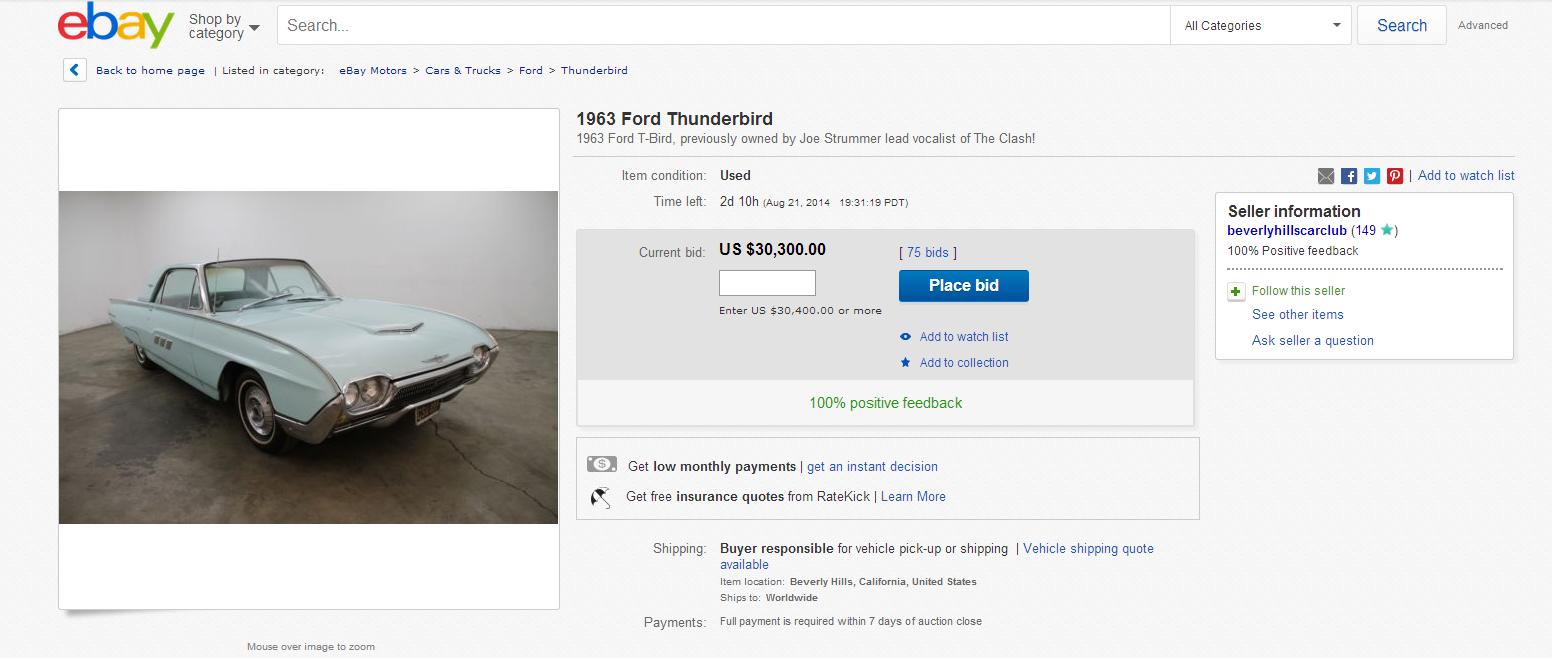 Joe Strummer's 1963 Ford Thunderbird