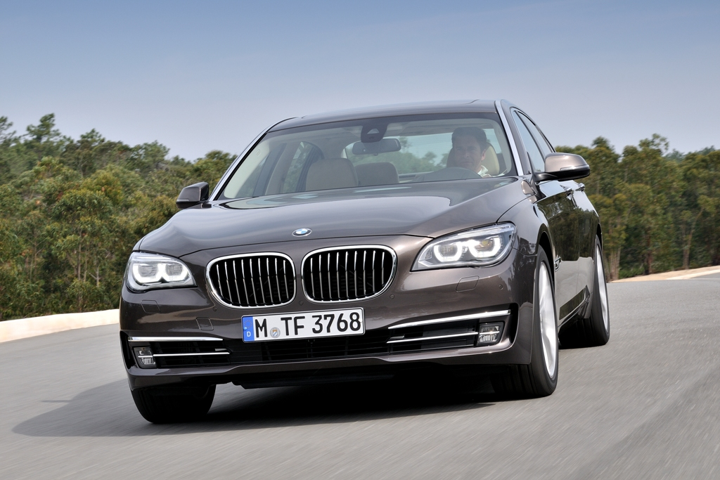 new BMW 7-series 2012 black outdoor driving exterior long wheel base