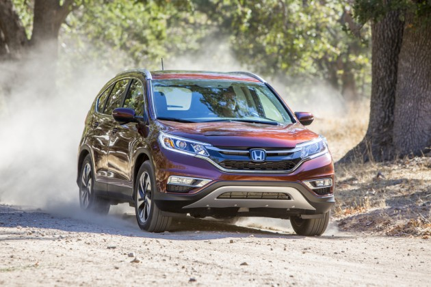 The 2015 Honda CR-V, winner of the 2015 ALG Residual Value Award for Compact Utility