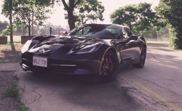 A C2 Corvette and a C7 Corvette side-by-side.
