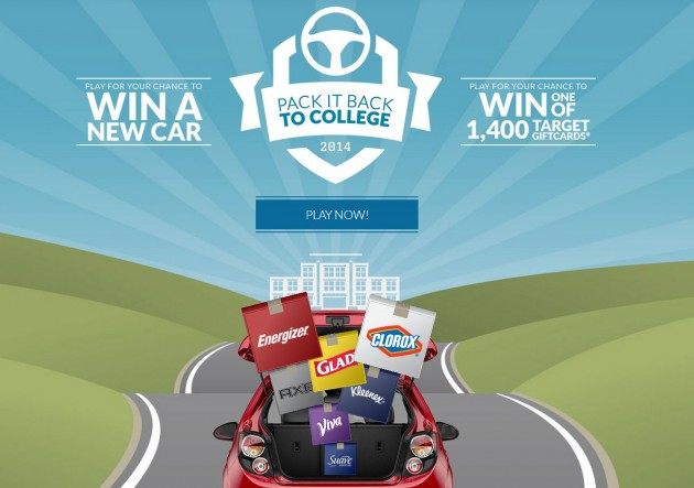 Win a Sonic in the Clorox Pack it Back to College Sweepstakes