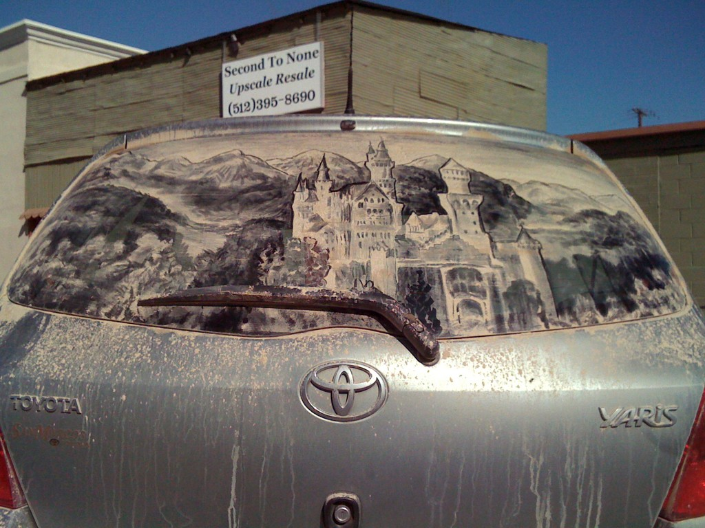 Dirty Car Art Artist Creates Masterpieces On Dusty Car