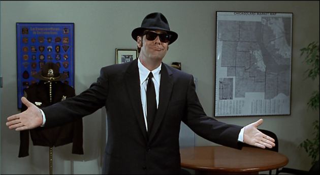 Dan Aykroyd reprises his role as Elwood Blues, 18 years after the original