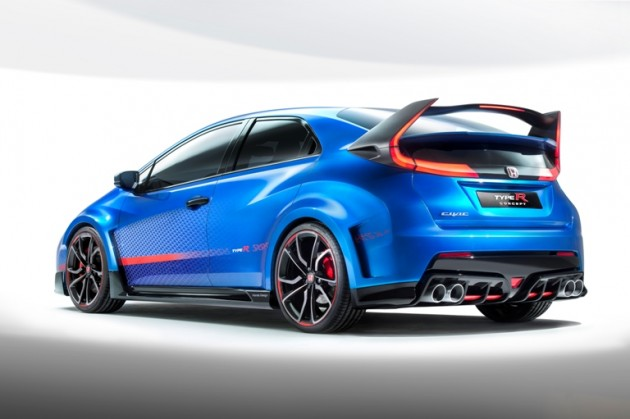 A look at the speedy hatchback's rear