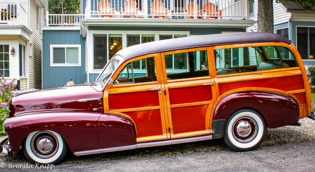 Eric Clapton's Chevy Woody in profile