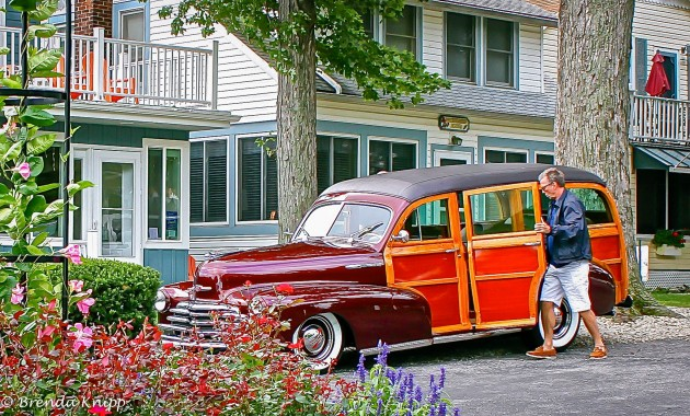 Musician Eric Clapton with his 1947 Chevrolet Fleetmaster Wagon