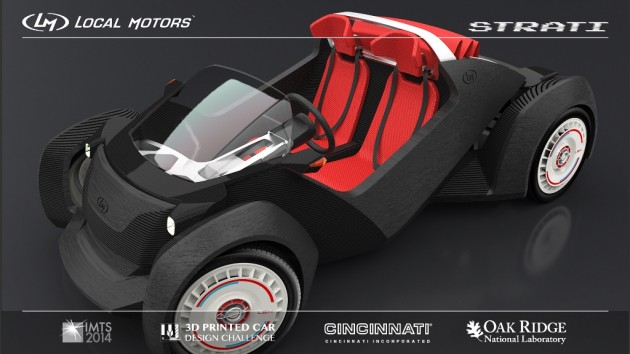 Local Motors Strati is first 3d Printed car concept design 2