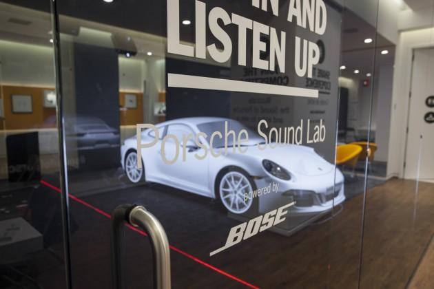 The Porsche Sound Lab, powered by Bose audio