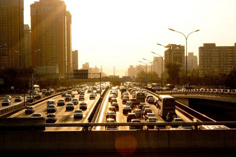 Traffic Jam Sunrise City Downtown Buzrael