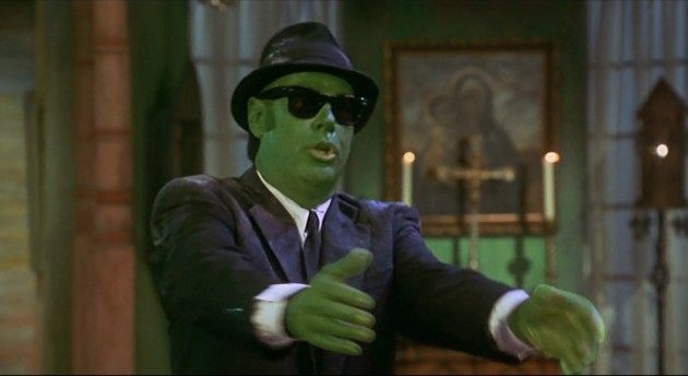 Zombie Elwood Blues in Blues Brothers 2000, an unholy attempt at resurrecting a dead film property