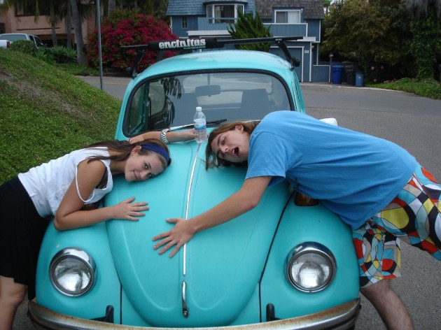 Blue VW bug national name your car day