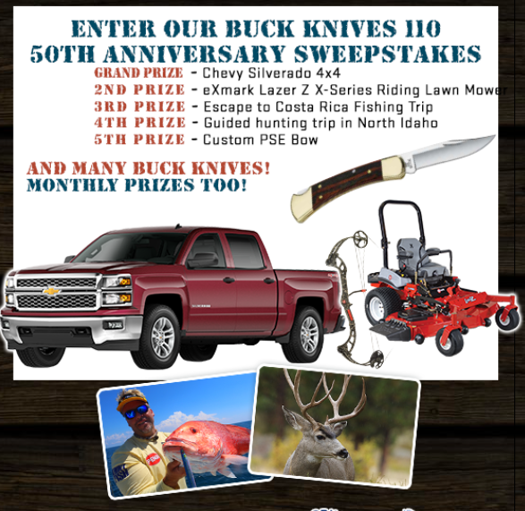 Win a Silverado in Buck Knives 110's 50th Anniversary Sweepstakes