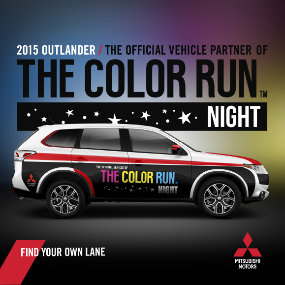 Mitsubishi Sponsors The Color Run Night