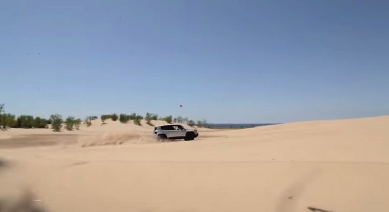 Check out the 2015 Jeep Renegade Trailhawk at the Silver Lake Sand Dunes.