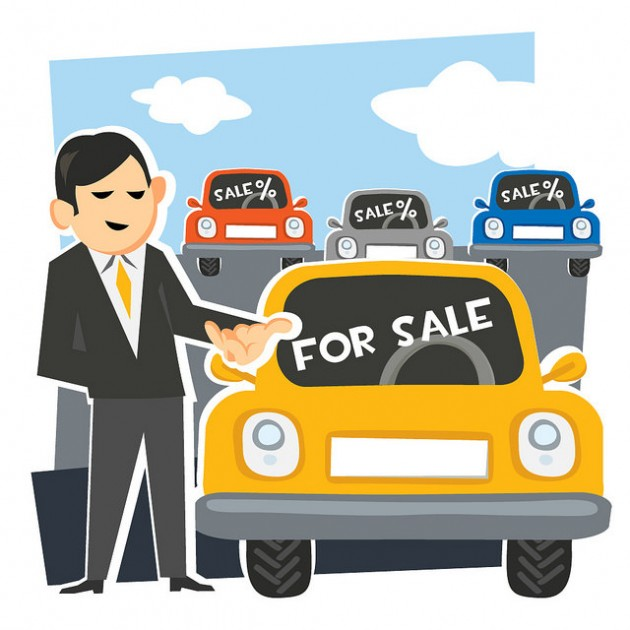 Used Car prices car salesman picture clip art www.everycarlisted.com.