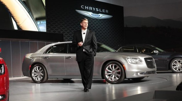 The 2015 Chrysler 300 at the LA Auto Show