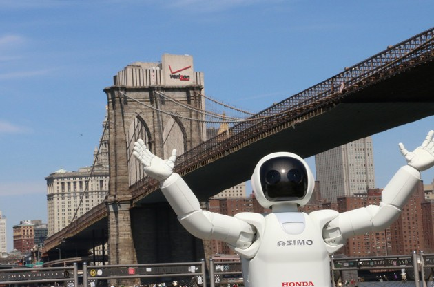 "ASIMO in New York: Beginning Of Robot Uprising Chillingly Documented In ""ASIMO Visits The Big Apple"" [VIDEO]"