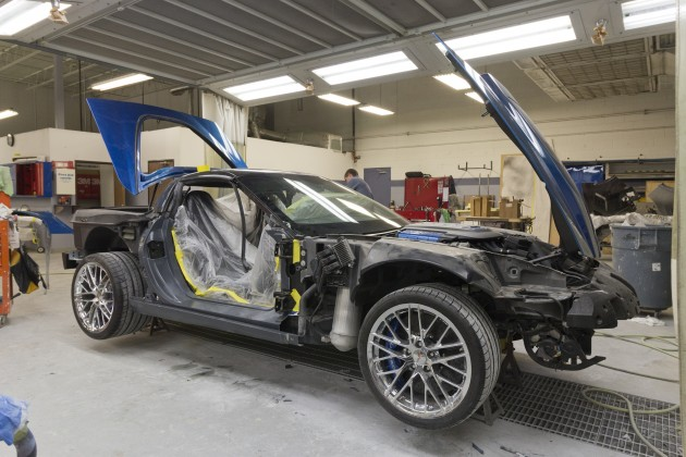 """The """"Blue Devil"""" is the first restored sinkhole Corvette."""
