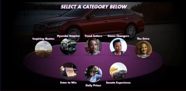 Hyundai Smarter Wesbite screenshot 2 categories