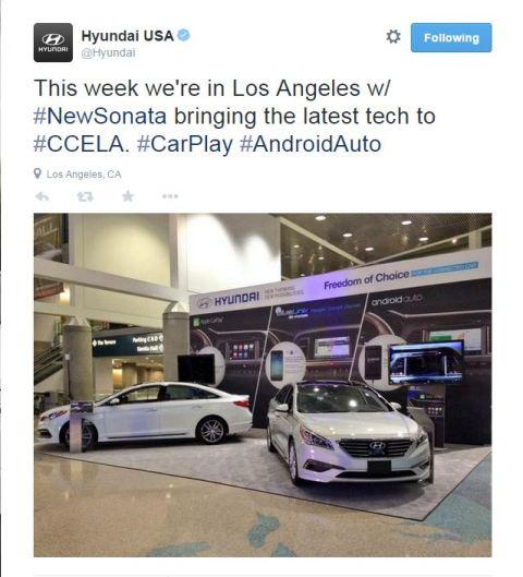 Hyundai Tweet LA Auto Show
