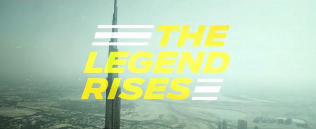 Mustang on the Burj Khalifa