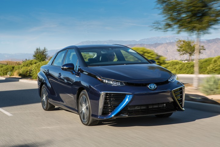 Toyota Mirai fuel-cell car crash safety