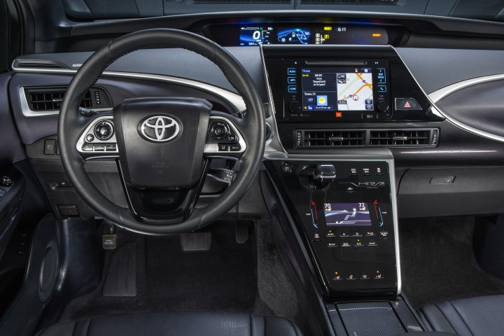 Toyota Mirai fuel-cell car interior crash safety