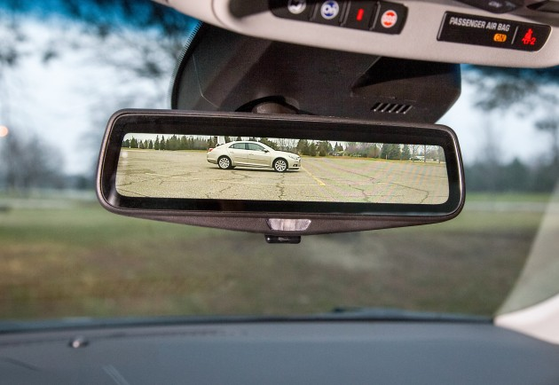 Cadillac's streaming video rearview mirror