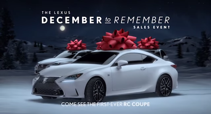 Like Bows On Cars Check Out The Lexus December To Remember Ads News Wheel
