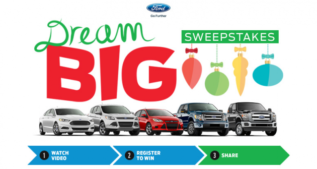 Ford Dream Big Sweepstakes